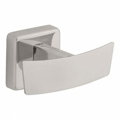 """Bathroom Hook, Bright Stainless Steel, Overall Depth 2-1/8"""", Overall Height 2-3/64"""", 1 Unit"""