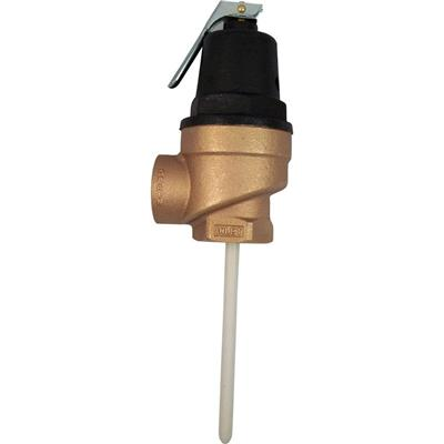 Brass FPT Inlet FVX-5L Commercial Temperature and Pressure Relief Valve, 1 in.