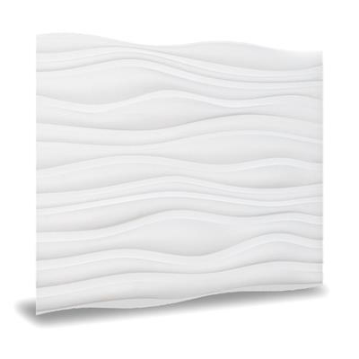Wall Paneling in White, 24 in. x 24 in. Dunes Decorative Vinyl