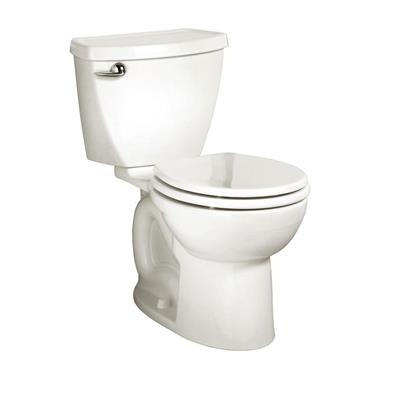 Cadet 3 Powerwash 10 in. Rough-In 2-Piece 1.6 GPF Single Flush Round Toilet in White, Seat Not Included
