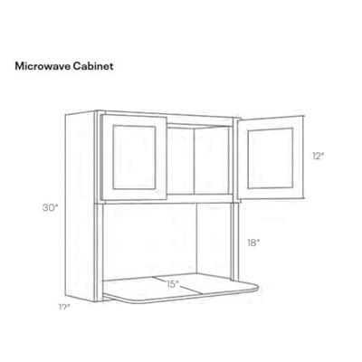 Microwave Wall Cabinet, Luxor White - MW3030, 1 Unit