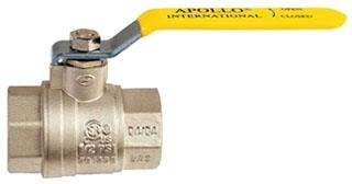 94A-104-01 3/4in IPS APOLLO BRASS 600WOG BALL VALVE (Not for potable water)