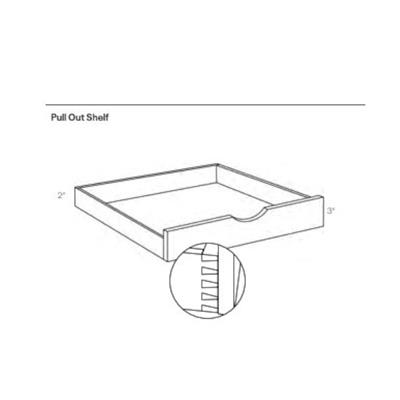 Pull Out Shelf, Luxor White - POS36, 1 Unit