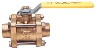 82-204-K1 3/4IN SPECIAL APOLLO BRONZE COP BALL VALVE OXYGEN CLEANED W/EXT TUBES