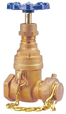 T-113-HC 3/4in IPS NRS GATE 125LB NIBCO BRONZE W/ HOSE CAP & CHAIN (Not for potable water)