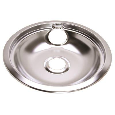 Electric Range Drip Pan Fits Frigdaire Ranges, Chrome, 8 In.