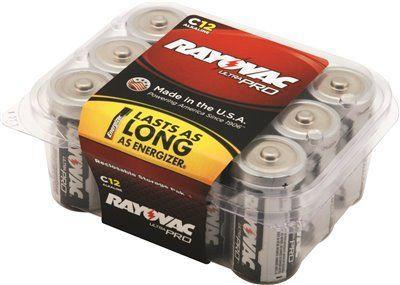 Rayovac Ultra Pro C Alkaline Batteries Contractor Pack (12-pack)