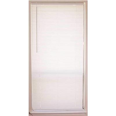 Designer's Touch Cut-to-size White Cordless Light Filtering Fade Resistant Vinyl Blinds With 1 In. Slats 35 In. W X 64 In. L