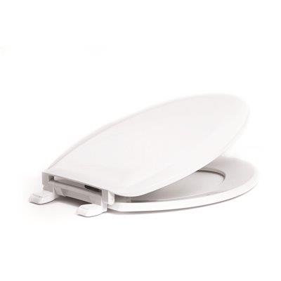 Proplus Elongated, Closed Front Toilet Seat With Cover In White