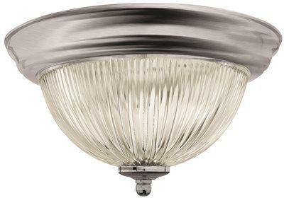 Monument? Halophane Dome Ceiling Fixture, Brushed Nickel, 11-3/8 In., Uses (1) 60-watt Incandescent Medium Base Lamps*