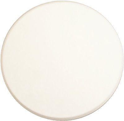 Prime-line 5 In. White Smooth Self-adhesive Wall Disc