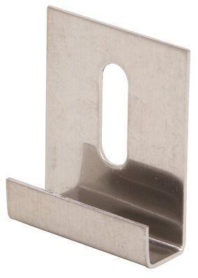 Prime-line 1/4 In. Stainless Steel J Mirror Clips With Screws, 25 Per Pack
