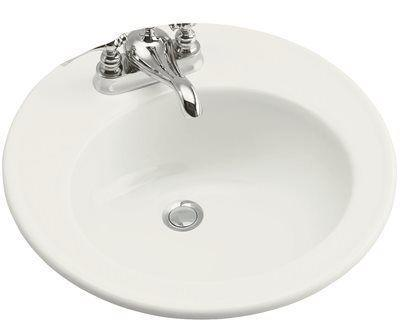 Kohler Brookline Drop-in Vitreous China Bathroom Sink In White With Overflow Drain