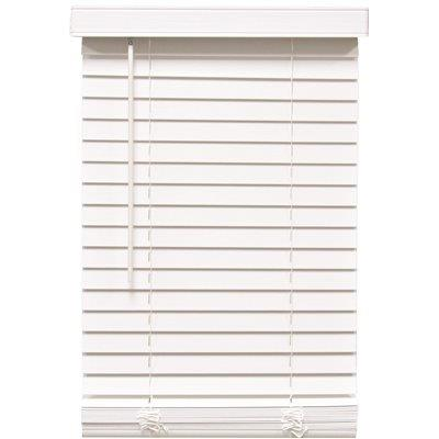 Designer's Touch Cut-to-width White Cordless 2 In. Faux Wood Blind - 31 In. W X 60 In. L