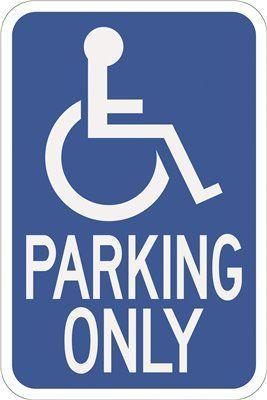 Hy-ko 12 In. X 18 In. Handicapped Parking Heavy-duty Sign