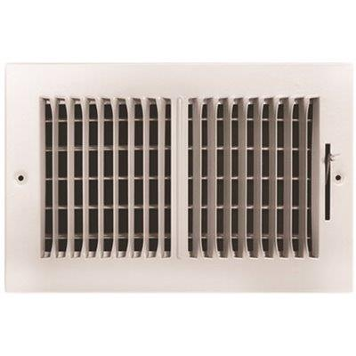 Truaire 8 In. X 4 In. 2-way Plastic Wall/ceiling Register