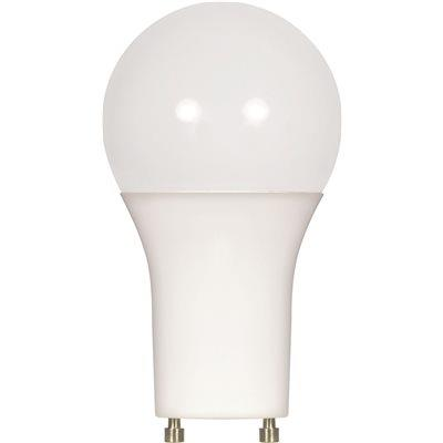 Satco Led Lamp, A19, 9.8 Watts, 4000k, 80 Cri, Gu24 Base, 120 Volts, Omni-directional, Dimmable, Long Life, Frosted