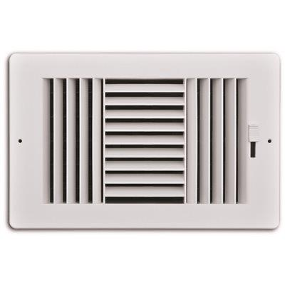 Truaire 10 In. X 6 In. 3-way Plastic Wall/ceiling Register