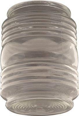 Jelly Jar Ceiling Fixture Replacement Glass, Clear, 4-3/4 In., 3-1/8 In. Fitter, 4 Per Box