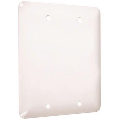 Taymac? Metal Maxi Princess Double Blank Wall Plate, Smooth White