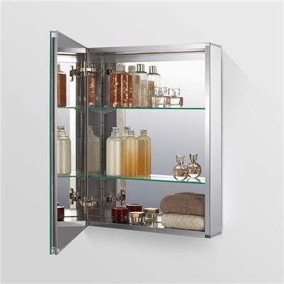 MCALY3866 - 15X26 Surface Mount Alumnium Medicine Cabinet With 2 Adjustable Glass Shelves